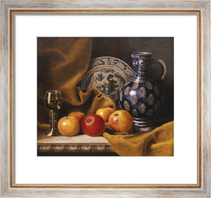 Still Life With A Jug, A Plate, A Goblet And Apples, 1876 by Benjamin Walter Spiers