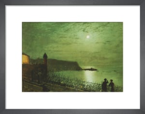 Scarborough by Moonlight, from the Steps of the Grand Hotel by John Atkinson Grimshaw