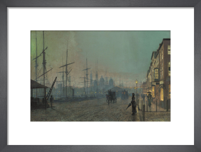 Humber Dockside, Hull, 1881 by John Atkinson Grimshaw