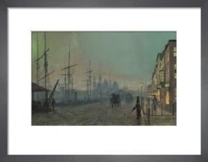 Humber Dockside, Hull, 1881 by John Atkinson Grimshaw