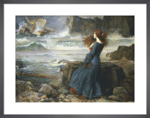 Miranda - The Tempest, 1916 by John William Waterhouse