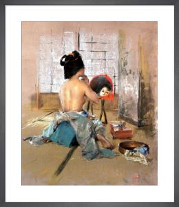Geisha at her Toilet by Robert Frederick Blum