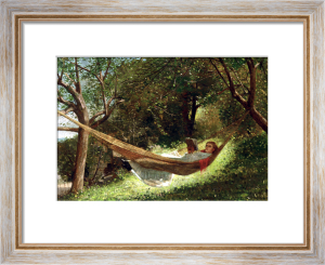 Girl In The Hammock by Winslow Homer