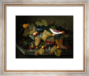 Still Life Of Fruit by Severin Roesen