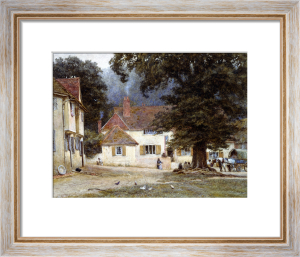 A Cart By A Village Inn by Helen Allingham