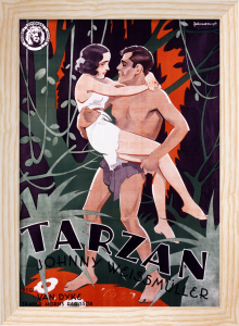 Tarzan The Ape Man, 1932 by Swedish One Sheet Poster
