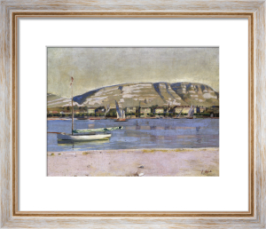 Geneva Harbour And The Saleve by Ferdinand Hodler