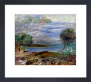 Two People At The Water's Edge by Pierre Auguste Renoir