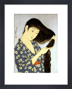A Young Woman Combing Her Hair by Hashiguchi Goyo