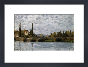 The Seine At Bougival by Alfred Sisley