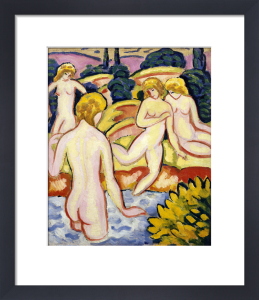Four Bathers by August Macke