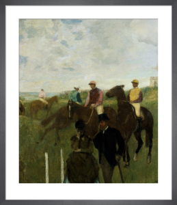 Jockeys at the Racecourse by Edgar Degas