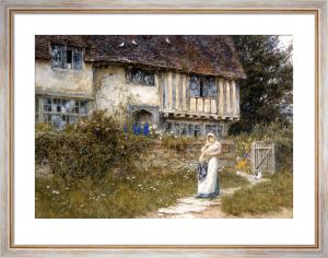 Beside the Old Church Gate Farm, Smarden, Kent by Helen Allingham
