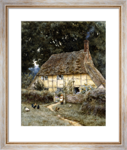 On the Brook Road, near Witley by Helen Allingham