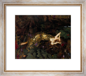 Titania Sleeps; A Midsummer Night's Dream by Frank Cadogan Cowper