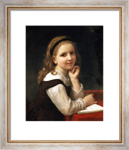 A Good Book by Adolphe William Bouguereau