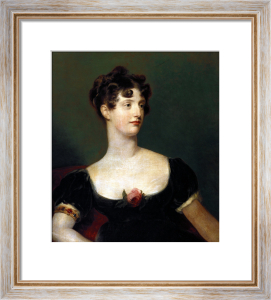 Portrait Of Lady Beresford, Seated, Half-Length In A Black Dress by Sir Thomas Lawrence