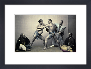 Sumotori Or Wrestlers by Felice Beato