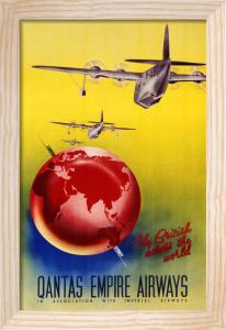 QANTAS Empire Airways, London, Sydney by Christie's Images