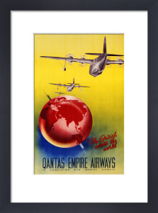 QANTAS Empire Airways, London, Sydney by Christie's Images
