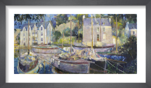 Harbour at La Roche Bernard by Anne Rea