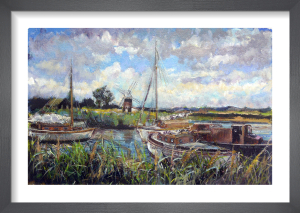 Thurne Mill, Norfolk Broads by Anne Rea