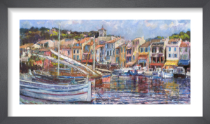 Cassis Harbour Panorama by Anne Rea