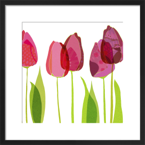Textile Tulips by Louise Cunningham