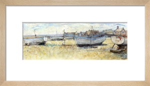Aldeburgh Beach & Moot Hall by Anne Rea