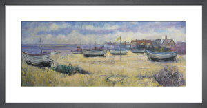Aldeburgh Fishing Boats & Yellow Flag by Anne Rea