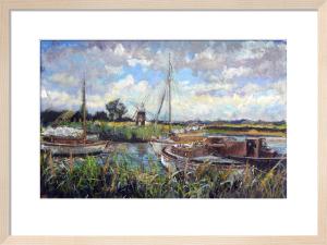 Thurne Mill, Norfolk Broads by Anne Rea