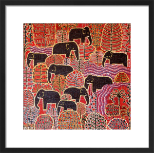 Nine Elephants by Thai Fine Art