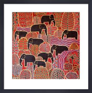Nine Elephants by Thai Fine Art