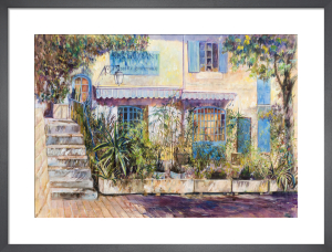 Restaurant at Ollioules Provence by Anne Rea
