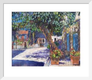 Hilltop Village Street Provence by Anne Rea