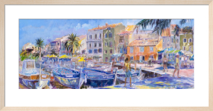 Quay at Sanary-sur-Mer by Anne Rea