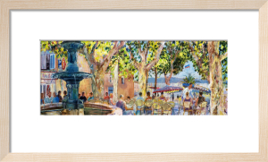 Quayside at Bandol by Anne Rea