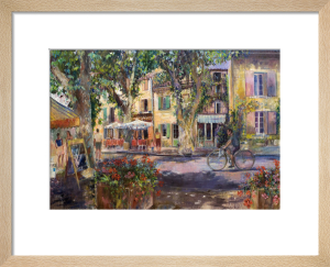 Street at Bedoin Provence by Anne Rea