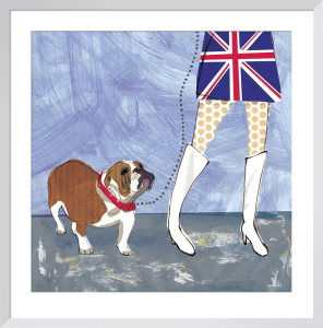 British Bulldog by Louise Cunningham