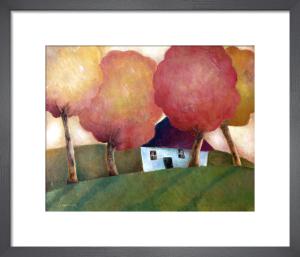 Cottage under Autumn Canopy by Jeremy Mayes