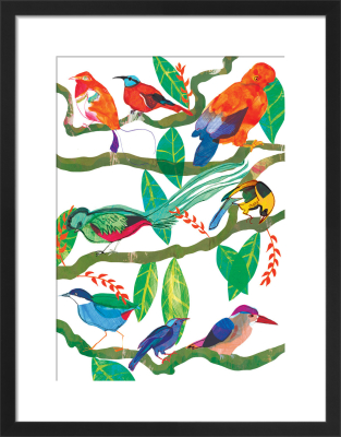Exotic Birds by Louise Cunningham