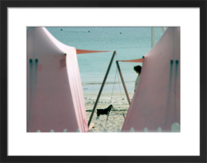 Dog and Friend on holiday by Flo Smith