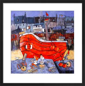 Folk on the Quay by Brian Petrie