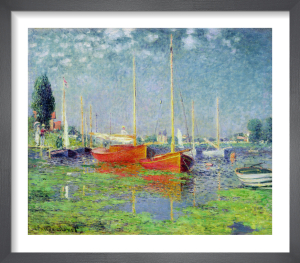 Barques a Argenteuil by Claude Monet