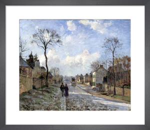 The Road to Louveciennes, 1872 by Camille Pissarro