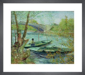 Fishing in the Spring. Pont de Clichy, 1887 by Vincent Van Gogh