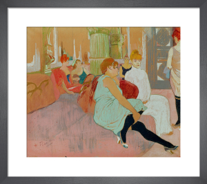 In the Salon at the Rue des Moulins, 1894 by Henri de Toulouse-Lautrec