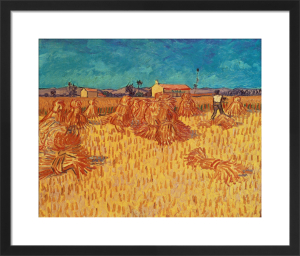 Wheat Field with Sheaves, 1888 by Vincent Van Gogh