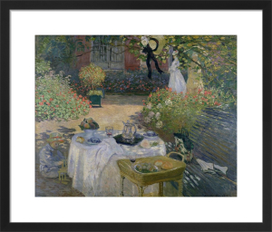 The Luncheon, Monet's garden at Argenteuil, c.1873 by Claude Monet