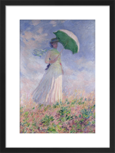 Woman with Umbrella by Claude Monet